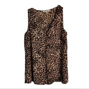 DANIEL RAINN  Leopard Career Sleeveless Top